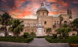 Royalty Free Image of Palermo Cathedral